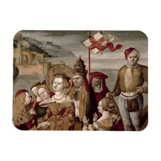 The Legend of St. Ursula, c.1530 (oil on panel) Rectangular Magnets