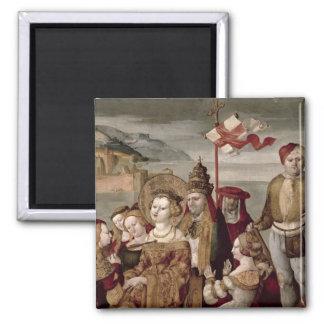The Legend of St Ursula c 1530 oil on panel Fridge Magnets