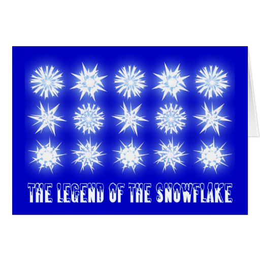 Legend of the snowflake the legend of the snowflake greeting cards