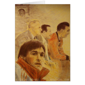 The Legends by Liverpool Artist Colin Carr-Nall Card