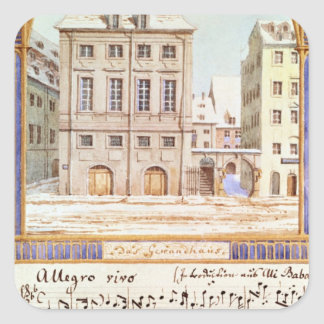 The Leipzig Gewandhaus Square Sticker