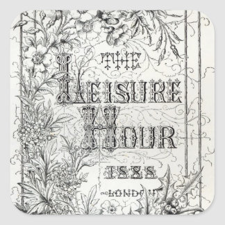 The Leisure Hour, London, 1888 Square Sticker