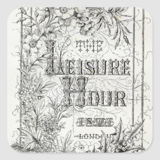 The Leisure Hour, London, 1891 Square Sticker