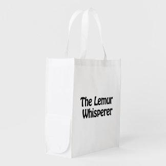 the lemur whisperer reusable grocery bag