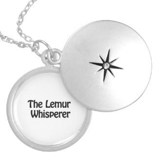 the lemur whisperer silver plated necklace