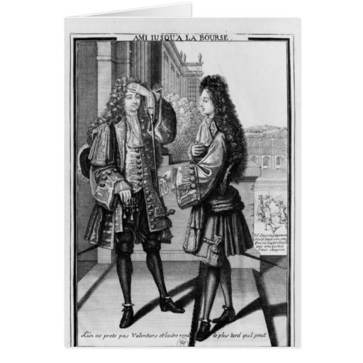 The Lender and the Borrower Greeting Card