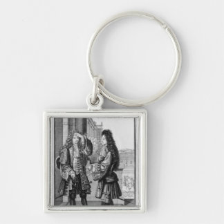 The Lender and the Borrower Silver-Colored Square Key Ring