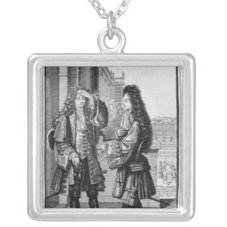 The Lender and the Borrower Square Pendant Necklace
