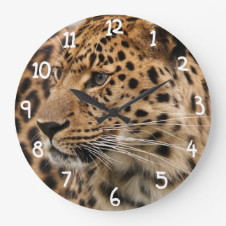 The Leopard Large Clock