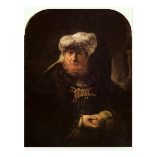 The leper king Uzziah by Rembrandt Postcards