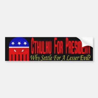 The Lesser Evil Car Bumper Sticker