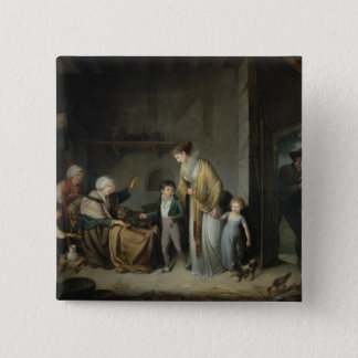The Lesson in Charity 15 Cm Square Badge