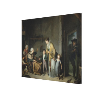 The Lesson in Charity Canvas Print