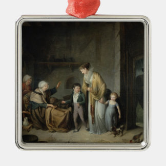 The Lesson in Charity Christmas Ornament