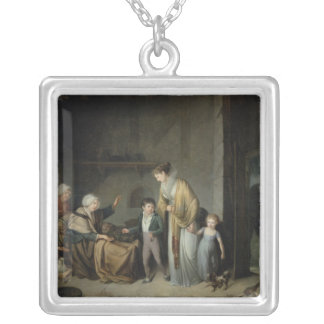 The Lesson in Charity Silver Plated Necklace
