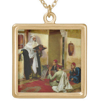 The Lesson (oil on canvas) Personalized Necklace