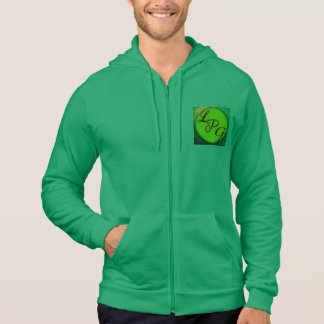 The LetsPlayGuy hoodie Green with logo