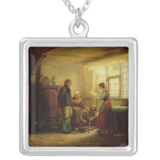 The Letter, 1869 Silver Plated Necklace