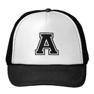 The Letter A, Collegiate Alphabet Mesh Hats