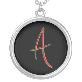the letter A necklace