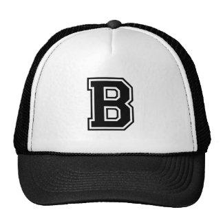 The Letter B, Collegiate Alphabet Cap