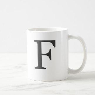 """the letter F"" Mugs"