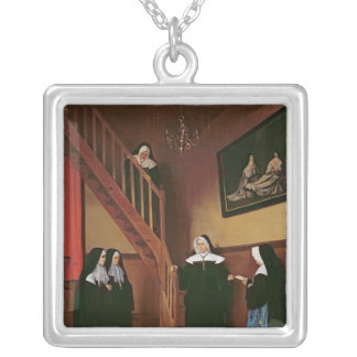 The Letter of Recommendation, 1859 Silver Plated Necklace