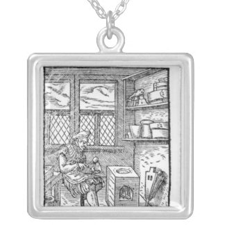 The Letter Plate Maker Silver Plated Necklace