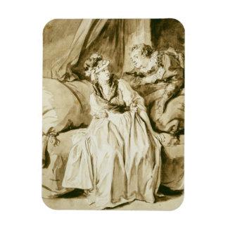 The Letter (Spanish Conversation) by Fragonard Magnet