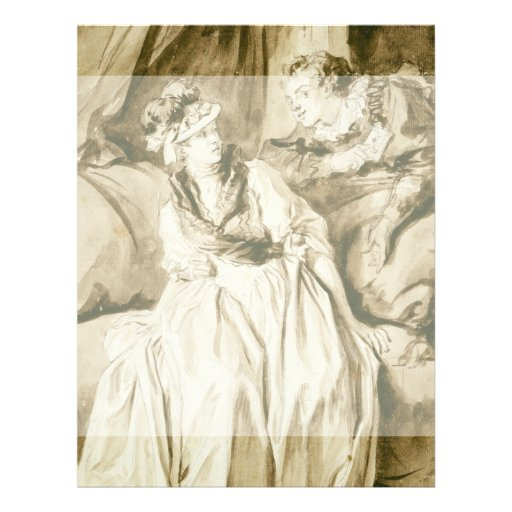The Letter (Spanish Conversation) by Fragonard Custom Flyer