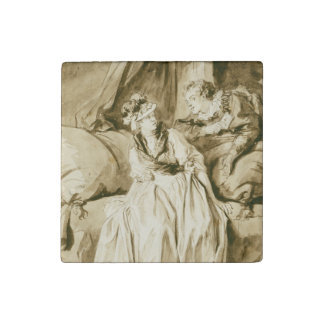 The Letter (Spanish Conversation) by Fragonard Stone Magnet
