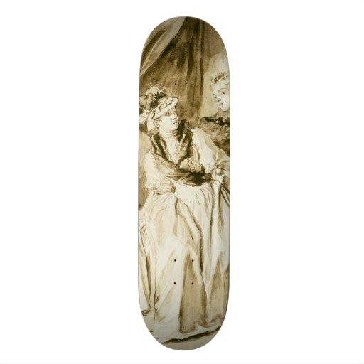 The Letter (Spanish Conversation) by Fragonard Custom Skateboard