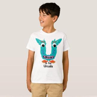 The Letter U Monster Alphabet Personalize T-Shirt
