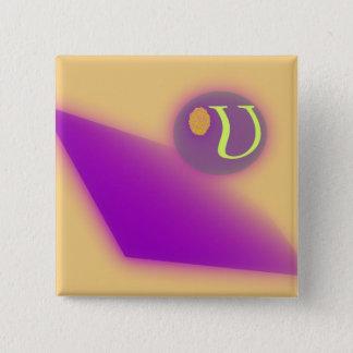 The Letter U Square Button