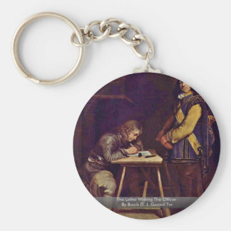 The Letter Writing The Officer Basic Round Button Key Ring