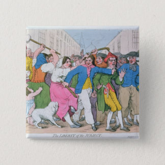 The Liberty of the Subject, publ. by H. 15 Cm Square Badge