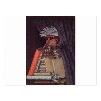 The Librarian by Giuseppe Arcimboldo Postcard