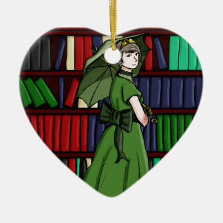 The Librarian Ceramic Heart Decoration