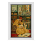 The Library by Elizabeth Shippen Green Poster