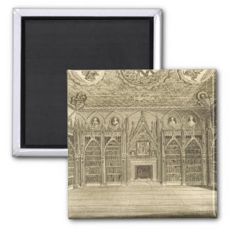 The Library, engraved by Godfrey, from 'Descriptio Magnet