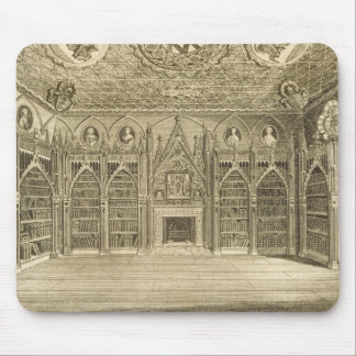 The Library, engraved by Godfrey, from 'Descriptio Mouse Mat