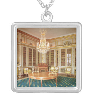 The library of Louis XVI  decorated in 1781 Silver Plated Necklace