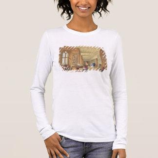 The Library, Windsor Castle, 1838 (colour litho) Long Sleeve T-Shirt