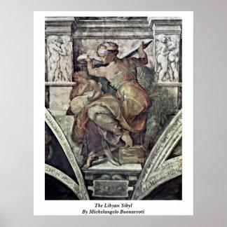 The Libyan Sibyl By Michelangelo Buonarroti Posters