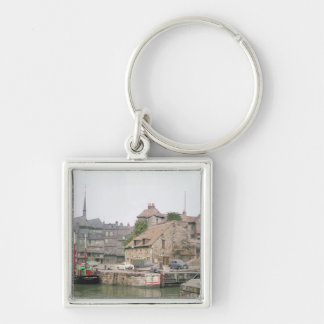 The Lieutenance Silver-Colored Square Key Ring
