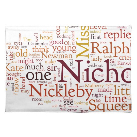 The Life and Adventures of Nicholas Nickelby Place Mats