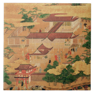The Life and Pastimes of the Japanese Court, Tosa Large Square Tile
