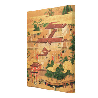 The Life and Pastimes of the Japanese Court, Tosa Stretched Canvas Print