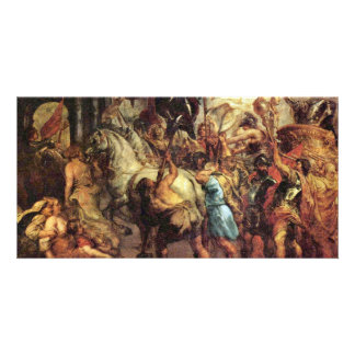 The Life Cycle Of Paintings Of Henri Iv To Marie Custom Photo Card