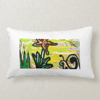 The Life of a Tiger Lily and Snail Lumbar Cushion